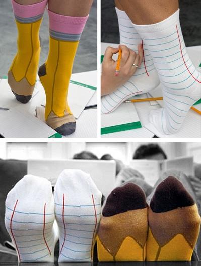 Ashi Dashi Back to School socks - необычные носки для согрева ног и хорошего настроения