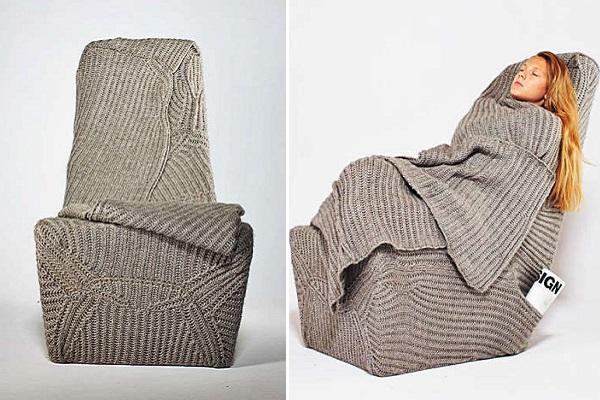 Уютное и теплое кресло-одеяло от Ana Brzostek