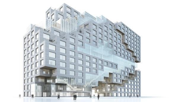 Необычное здание банка DnB NOR в Норвегии