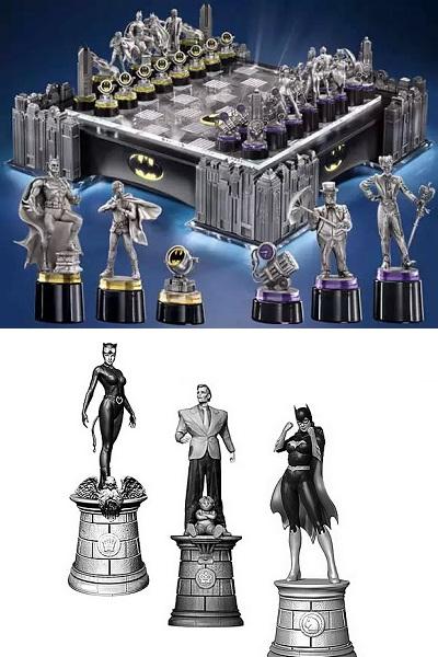 Супергеройские шахматы Batman chess set от Noble Collection