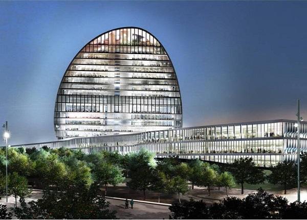 Концепт необычного здания банка BBVA  в Мадриде