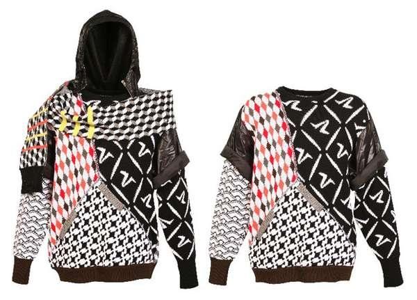 Теплый дизайнерский свитер от Bless Sweaters и OXBOW