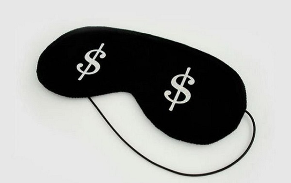 Маска для сна со знаком доллара
