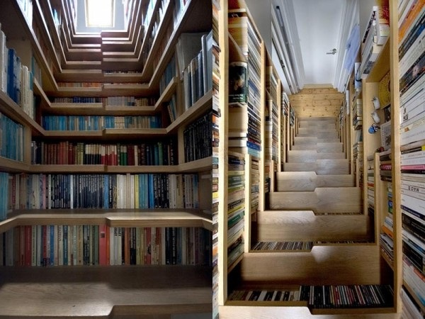 Лестница-библиотека от Levitate