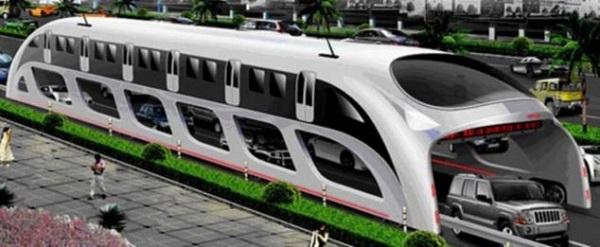 Концепт эко-автобуса 3D Express Coach