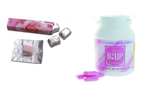Необычная японская 'жвачка'  для девушек Bust up gum
