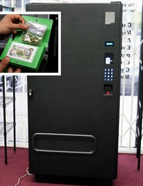 Торговый автомат, продающий марихуану по врачебному рецепту
