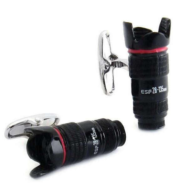 Camera Lens Cufflinks - оригинальные запонки для фотографов и их поклонников