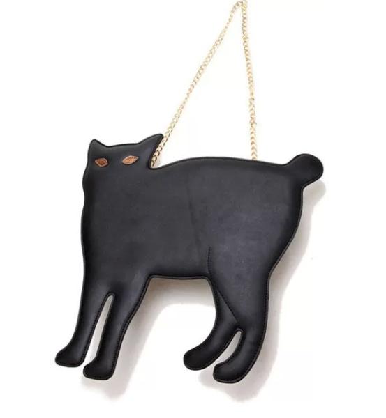Сумка-'черная кошка' Rivet Black Bag
