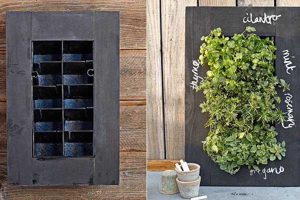 Chalkboard Wall Planter - цветочный горшок-школьная доска от williams-sonoma