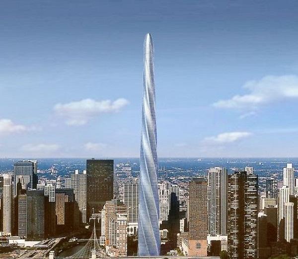 Chicago spire - пример уникальной архитектуры в США