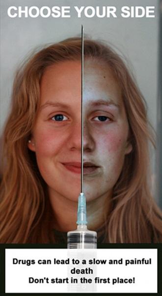 Choose your side - социальная реклама против наркотиков, подготовленная литовскими дизайнерами
