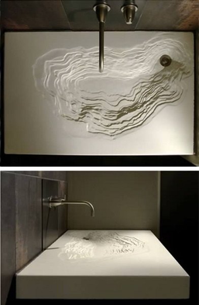 Бетонная раковина Signature Erosion Sink от студии Gore Design