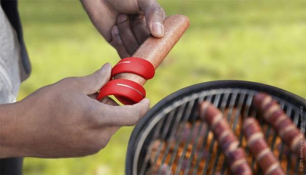 Cyclone Twist & Score - закрученный нож для декорирования сосисок