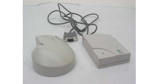 Первая беспроводная компьютерная мышь от Logitech, 1984 год