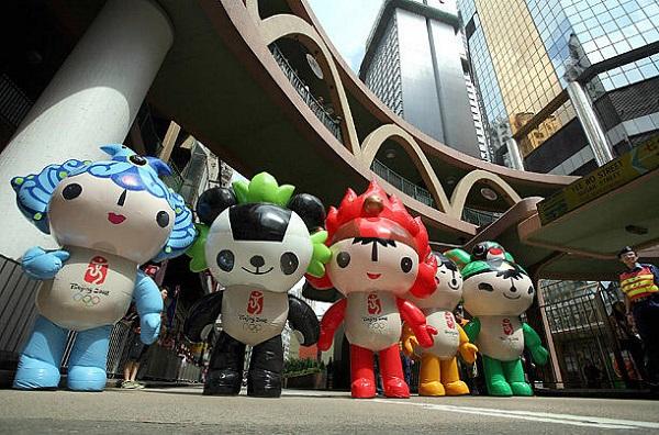 Beibei, Jingjing, Huanhuan, Yingying и Nini  - символы Олимпиады-2008