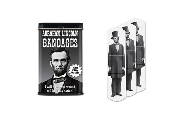Пластырь с креативным принтом Abraham Lincoln