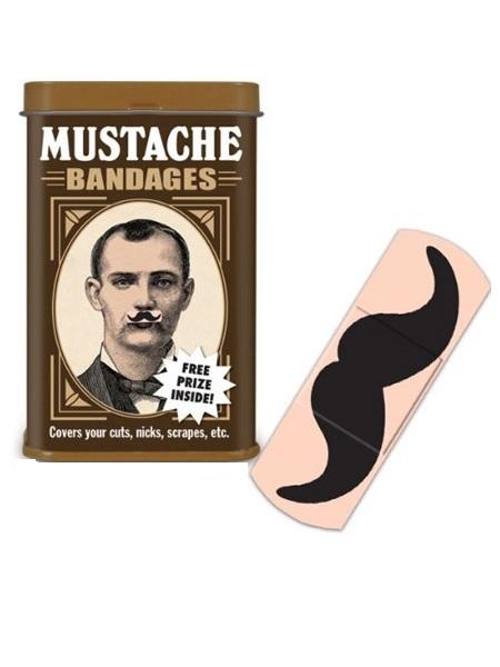 Пластырь с креативным принтом Mustache