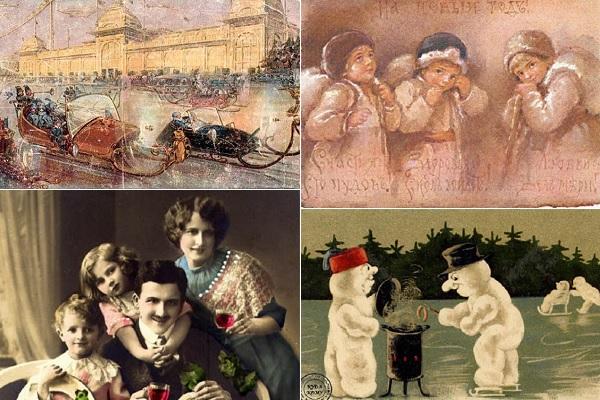 Самые оригинальные новогодние открытки дореволюционной эпохи