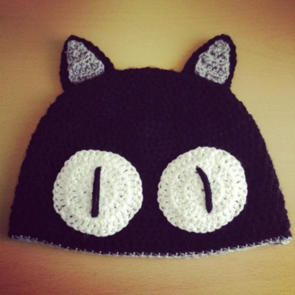Шапка-'черная кошка' Crochet Halloween Hat