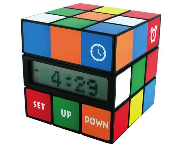 Часы, будильник, календарь и комнатный термометр Cube Clock - оригинальная версия кубика Рубика
