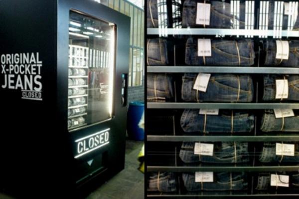 Торговые автоматы с нетрадиционной 'начинкой' - джинсами марки Closed