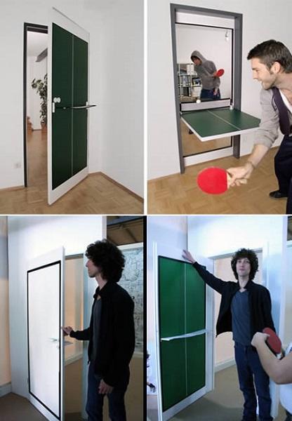 Дверь-стол для пинг-понга от Tobias Franzel
