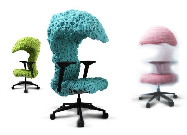 Офисный стул с 'крышей-скорлупкой' от Jamy Yang