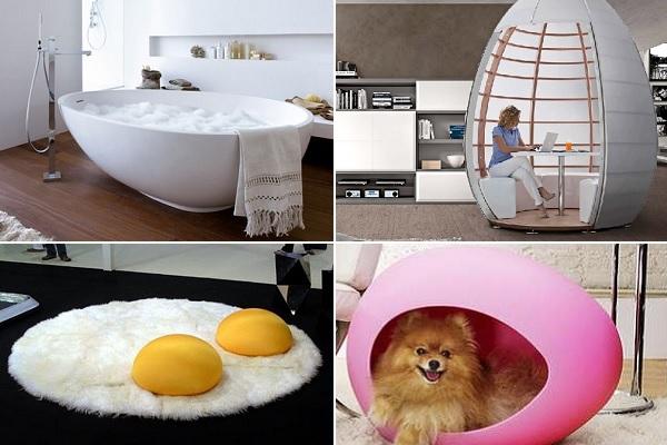 Дизайнерская мебель в форме яйца