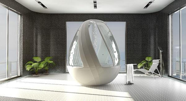 Душевая кабинка-'яйцо' от арины Комаровой