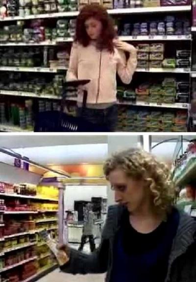Флешмоб в стиле 'стоп-кадр' в супермаркете Манчестера