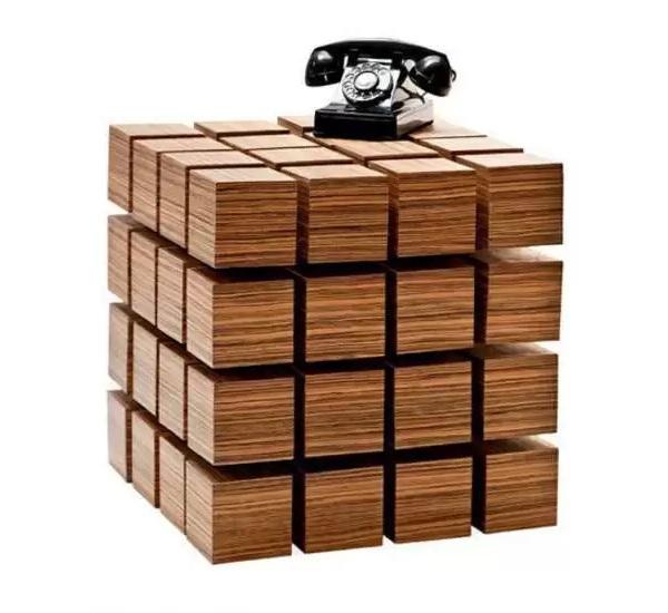 Парящий в воздухе кубический комод Float Table от Rock Paper Robot