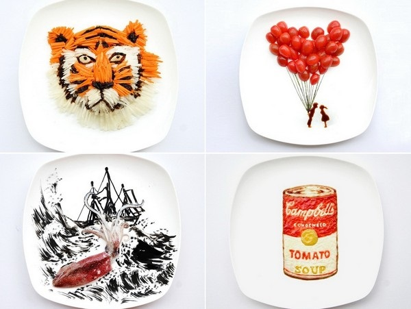 Кулинарный креатив от малайской художницы Hong Yi