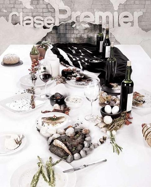 Сервировка стола-портрет повара Rene Redzepi