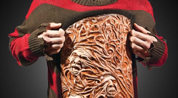 Теплый дизайнерский свитер в стиле Фредди Крюгера
