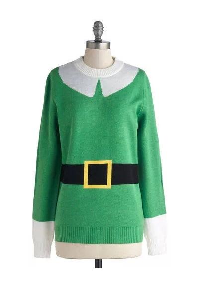 Теплый дизайнерский свитер Funny Elf Sweater