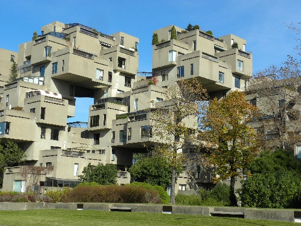 Жилой комплекс Habitat 67 - пример уникальной архитектуры в Монреале