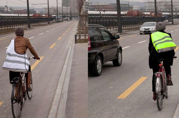 High Visibility Bag от Sputnik Zurich - социально-ориентированная эко-сумка для велосипедистов и пешеходов