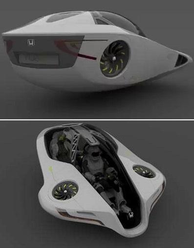 Honda Fuzo - концептуальный летающий автомобиль от Jonathan Mahieddine