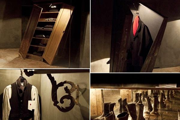 Hostem – лондонский магазин мужской одежды, оформленный в мрачноватых тонах
