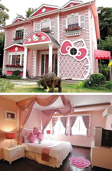 Дом из мультфильма 'Hello Kitty'