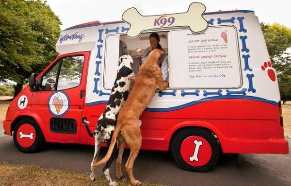 К99 - фургончик с мороженым для собак в лондонском Ридженс-парке