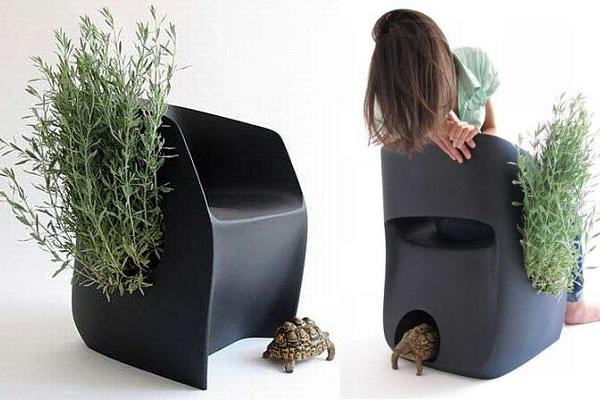 Inner Life Chair - стул, норка и цветочный горшок от Martin Azua