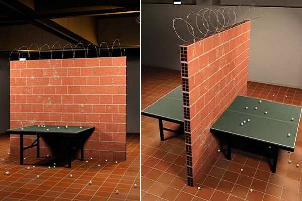 Intifada Ping Pong Table от Carlos No - необычный теннисный стол как искусство