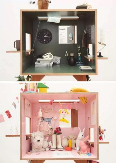 Koloro Desks от Torafu - практичная кубическая мебель для работы и игр
