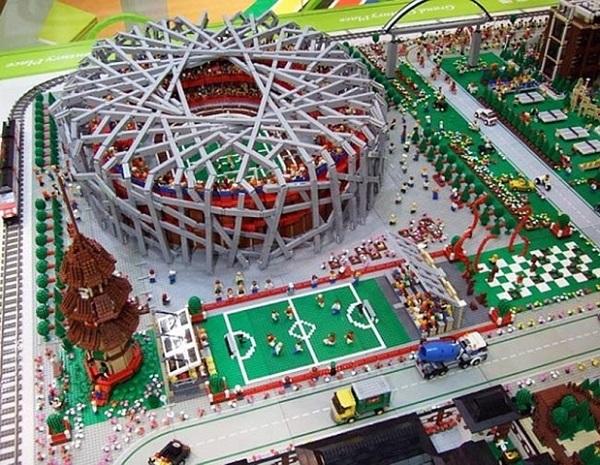 Лего-копия Олимпийской деревни от китайских архитекторов