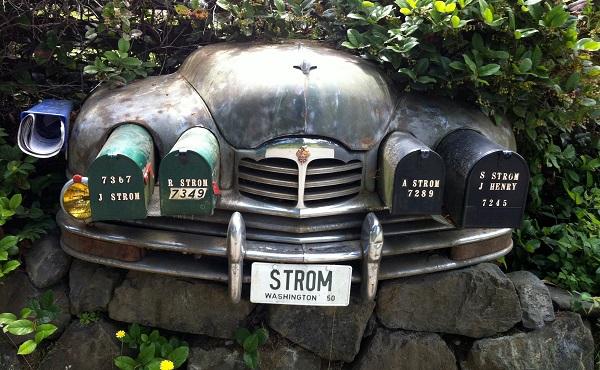 'Почтовое отделение' в кузове ретро-машины