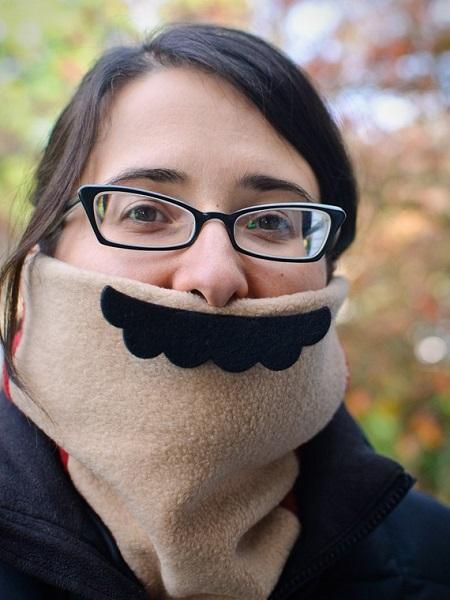 Креативный шарф Mario Mustache Neck-Warmer