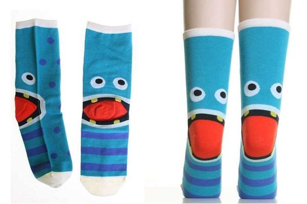 Не страшные хлопковые монстры Monster Heel Socks - необычные носки для  согрева ног и хорошего настроения