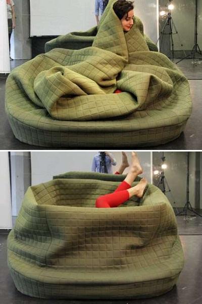 Moody Nest - уютная софа-гнездо от Hanna Emelie Ernsting